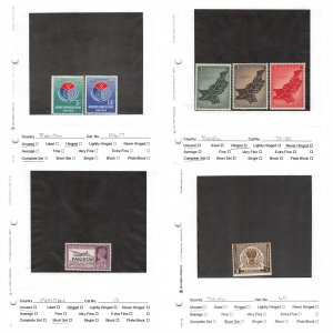 Lot of 54 Pakistan MH Mint Hinged Stamps #147221 X R