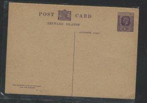 LEEWARD IS  COVER (PP2707B) KGV 1D REPLY PSC UNUSED