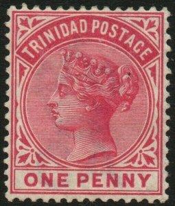 TRINIDAD-1883-94 1d Carmine Sg 107 MOUNTED MINT V48576