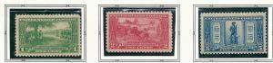 US#617-619 Lexington-Concord Series  (M) CV$20.85