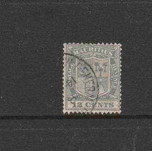 Mauritius 1921/26 Script CA 12c Grey FU SG 218