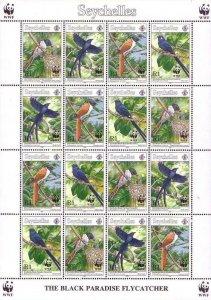 Seychelles 1996 #778a MNH. Flycatcher, WWF, mini sheet