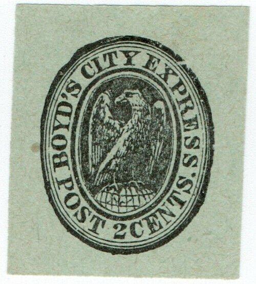 (I.B) US Local Post : Boyd's City Express 2c