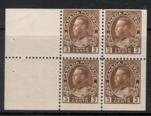 Canada #108a Mint Fine Never Hinged Booklet Pane