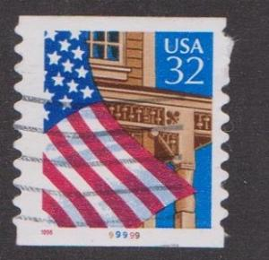 US #2915A Flag over Porch Used PNC Single plate #99999
