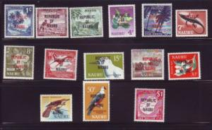 Nauru Sc 72-85 1968 Republic stamp set mint NH