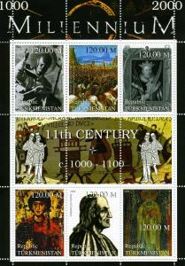 Turkmenistan MNH S/S 11th Century Importance 1999