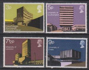 Great Britain,  Modern University Buildings (SC# 657-660) MH SET
