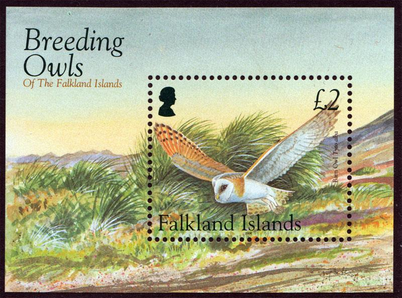 Falkland Islands QEII 2004 $2 Barn Owl MS SGMS1001 Mint Never Hinged MNH UMM