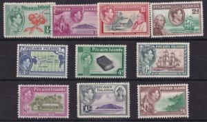 PITCAIRN IS 1940  S G 1 - 8  SET OF 10 MH CAT £75