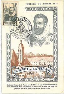 MAXIMUM CARD : Stamp Centenary  FRANCE 1946