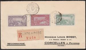 GUADELOUPE 1923 cover Pointe a Pitre to Switzerland.......................46741