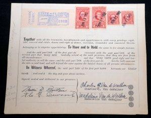 USA WARRANTY DEED Internal Revenue Documentary Stamps 1962 Florida Seal