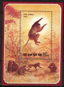Korea 1992 Year of Monkeys S/S MNH