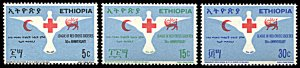 Ethiopia 527-529, MNH, 50th anniversary League of Red Cross Societies