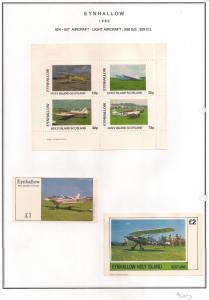 SCOTLAND - EYNHALLOW - 1982 - Light Aircraft - Perf 4v, Souv, D/L Sheets-MLH