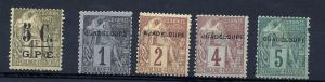 Guadeloupe 1889-1926 Collection mh u fvf scv $140.00 Save75%