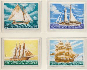 French Polynesia Stamps Scott #296 To 299, Mint Never Hinged - Free U.S. Ship...
