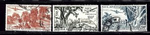 French Equatorial Africa C31-33 Used 1946 set