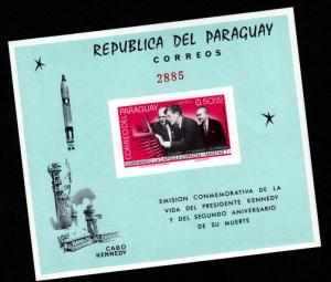 Paraguay 894a Mint NH S/S President John F Kennedy Visit!