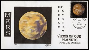 Collins Handpainted FDC View of Our Planets: Mars (5/31/2016)