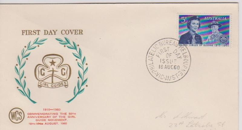 Australia SG334 WCS Girl Guides First Day Cover