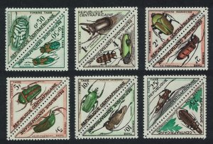 Central African Rep. Beetles Insects 12v Triangles Postage Due SG#D33-D44
