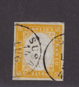 Sardinia Scott # 14 XF used neat cancel with nice color cv $ 475 ! see pic !