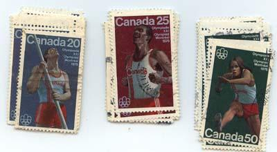 Canada USC #664-666 Used - 1976 Olympic Sports - 12 Sets F-VF Most VF