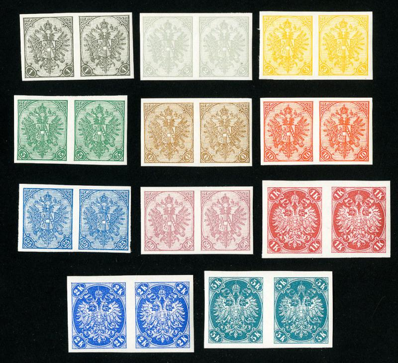 Bosnia Stamps # 11-24 XF OG NH Set of 11 Pairs