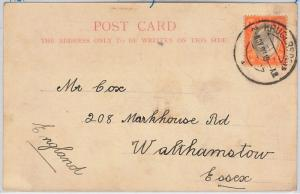 SOUTH AFRICA  Transvaal  -  POSTAL HISTORY - POSTCARD to ENGLAND 1903