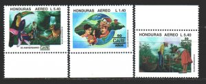 Honduras. 1995. 1288-90. Farmers Union, bird fauna. MNH.