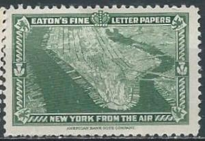 Eaton's Fine Letter Papers, New York from the air (1939) (mh)