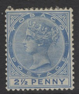 TOBAGO SG16 1883 2½d DULL BLUE MTD MINT