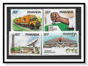 Rwanda #1243-1246 Transportation & Communication Set MNH