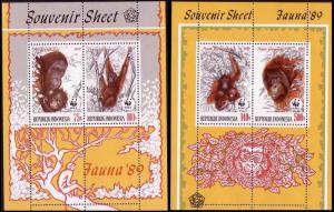 Indonesia WWF Orangutan Two Miniature Sheets SG#MS1924 MI#Block67 CV£200+