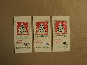 USPS Scott 2516a 25c Christmas Tree 3 Books 1990 60 Stamp...