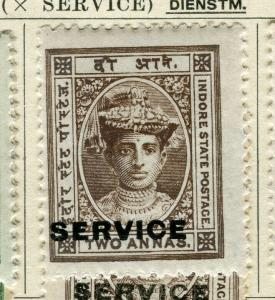 INDIA; INDORE-HOLKAR 1904 early local SERVICE issue Mint hinged 2a. value