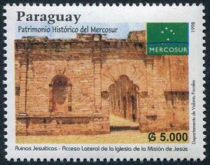 HERRICKSTAMP PARAGUAY Sc.# 2594 1998 Jesuit Mission