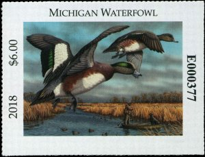 MICHIGAN  #43  2018 STATE DUCK STAMP WHITE WINGED SCOTER by Christopher Smith