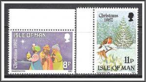 Isle Of Man #221-222 Christmas Complete Set MNH