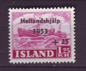 J22077 Jlstamps 1953 iceland hv of set mh #b13 ovpt