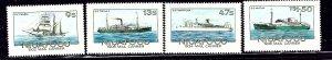 Tonga-Niuafo'ou 56-59 MNH 1985 Mail Ships    (ap2303)