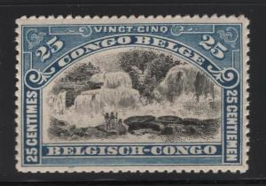 Belgian Congo 1915 25c Inkissi Falls Sc# 62 NH