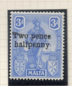 Malta 1925 Early Issue Fine Mint Hinged 2.5d. Surcharged 321557