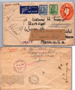 New Zealand, Postal Stationary, Auxiliary Markings