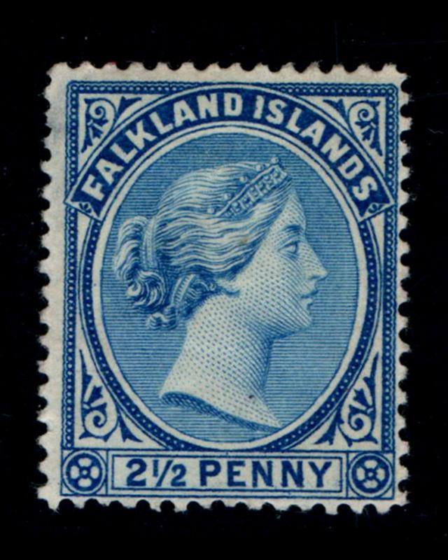 VINTAGE: FALKLAND ISLANDS 1894 OGMHR,ADH,THIN SCT # 15 $ 45 LOT# VSASFLK1894UD