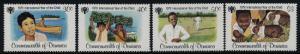 Dominica 613-6 MNH IYC, Children, Sports, Animals, Cricket, Banana