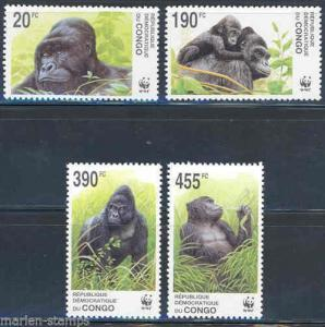 CONGO GORILLA WORLD WILDLIFE FUND  SET MINT NH