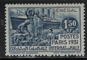 SENEGAL, 141, HINGED, 1931, COLONIAL EXPOSITION ISSUE